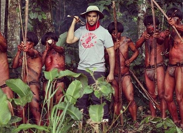 Eli Roth sul set di The Green Inferno